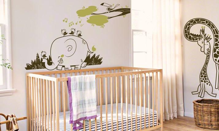 Stickers murali bambini cameretta avventura nella savana - Decorazioni murali per camerette bambini ...